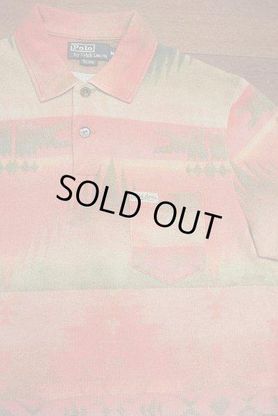 画像1: 【SALE!!】【クリックポスト198円も可】 ポロラルフローレン ネイティブアメリカン柄 ポロシャツ (L) (1)
