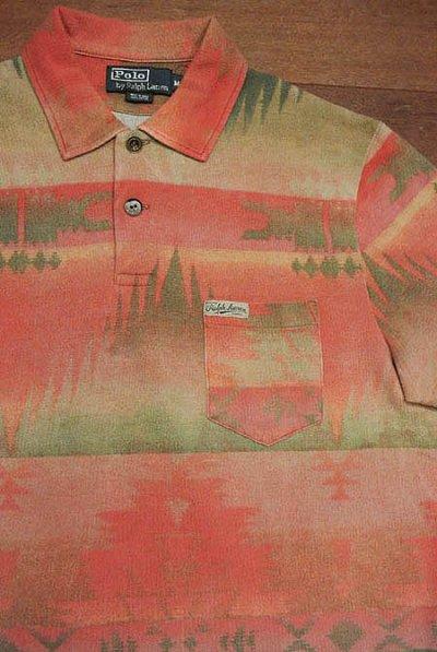 画像1: 【SALE!!】【クリックポスト198円も可】 ポロラルフローレン ネイティブアメリカン柄 ポロシャツ (L)