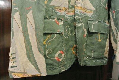 画像3: ポロラルフローレン ヨット柄 リネン+コットン テイラードジャケット(40R)