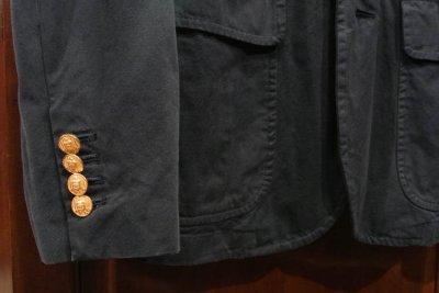 画像1: ポロラルフローレン コットンツイル 金ボタンネイビーブレザー(42R)