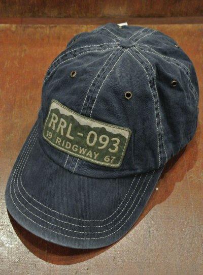 画像2: 【メール便可】RRL DoubleRL ダブルアールエル ビンテージ加工トラッカーキャップ(Blue)