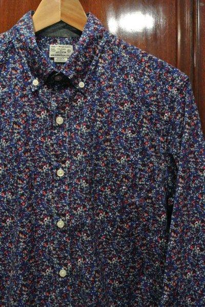 画像1: 【クリックポスト170円も可】 J.CREW フローラル総柄B.Dシャツ 【Blue/S】 新品 並行輸入