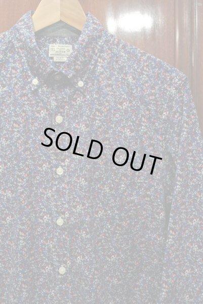 画像1: 【クリックポスト170円も可】 J.CREW フローラル総柄B.Dシャツ 【Blue/S】 新品 並行輸入 (1)