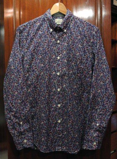 画像2: 【クリックポスト170円も可】 J.CREW フローラル総柄B.Dシャツ 【Blue/S】 新品 並行輸入