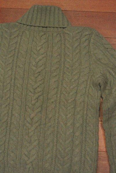 画像3: 【 50%OFF!! 】ポロラルフローレン ショールカラー ケーブル編みセーター (Green/S) 新品 並行輸入