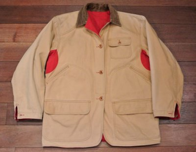 画像1: 【Used】 Polo Country ポロカントリー リバーシブル ダック ハンティングジャケット(Red/Beige,S)