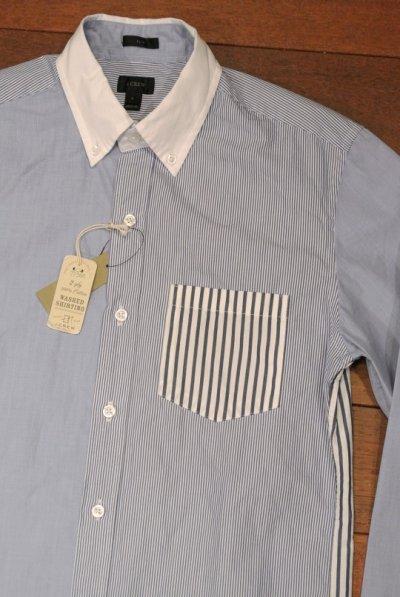 画像1: 【クリックポスト170円も可】 【SLIM FIT】 J.CREW クレイジーパターン B.Dシャツ  【Blue/S】 新品 並行輸入