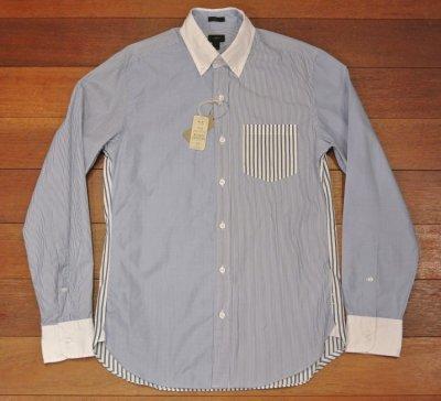 画像2: 【クリックポスト170円も可】 【SLIM FIT】 J.CREW クレイジーパターン B.Dシャツ  【Blue/S】 新品 並行輸入