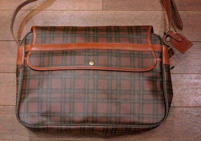 画像3: 【Excellwnt Used】ポロラルフローレン PVC×レザー タータンチェック 大きめのショルダーバッグ
