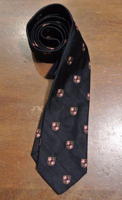 画像2: 【クリックポスト170円も可】ポロラルフローレン エンブレム刺繍 シルクネクタイ(Navy) $125 新品 並行輸入