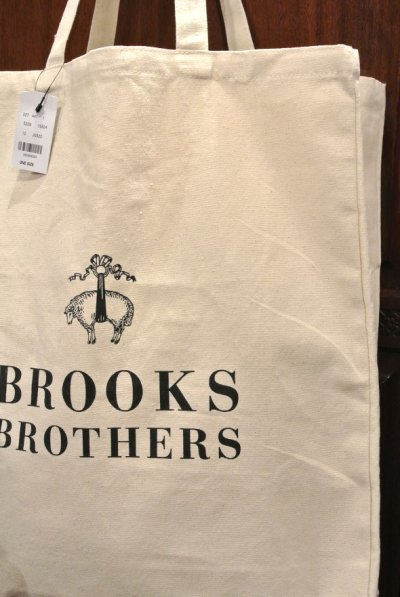 画像2: 【クリックポスト170円も可】 ブルックスブラザーズ コットンキャンバス トートバッグ