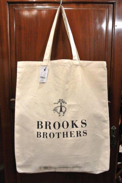 画像1: 【クリックポスト170円も可】 ブルックスブラザーズ コットンキャンバス トートバッグ
