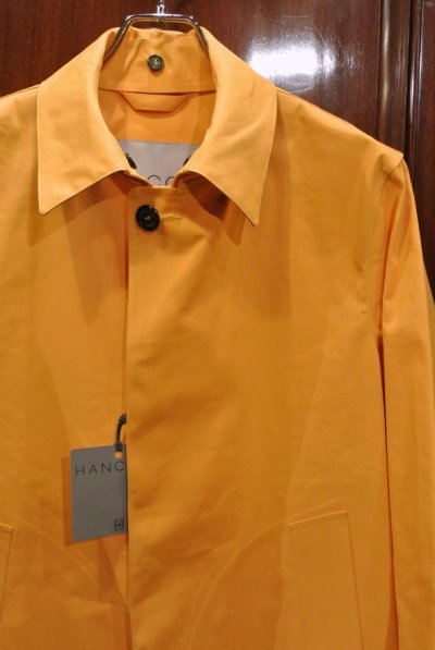 画像2: HANCOCK (ハンコック) ゴム引き ステンカラーコート(Yellow/36) 新品 国内正規品 スコットランド製