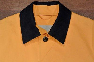 画像3: HANCOCK (ハンコック) ゴム引き ステンカラーコート(Yellow/36) 新品 国内正規品 スコットランド製