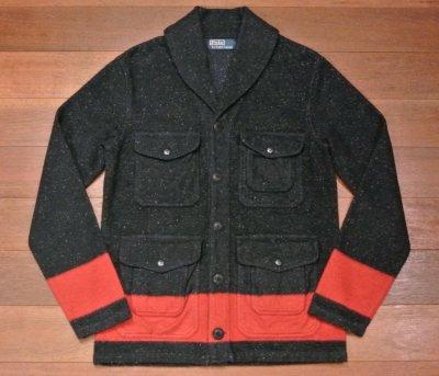 画像2: 未使用品 ポロラルフローレン ショールカラー カットソー ジャケット (BLUE/S) 国内正規品