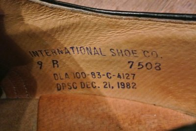画像3: 【USED】 1983年 U.S NAVY サービスシューズ 【9-R】 INTERNATIONAL SHOE CO.