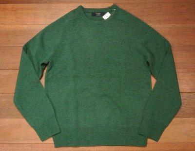 画像2: J.CREW ジェイクルー ラムズウール クルーネックセーター (Green /S) 新品 並行輸入