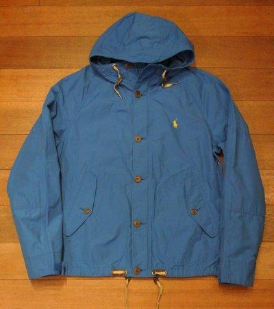画像2: ポロラルフローレン 60/40クロス フーデッドジャケット  (BLUE/S) 新品 並行輸入