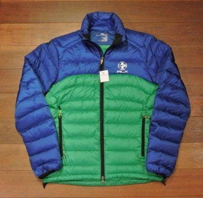 画像2: 【 40%OFF!! 】 RLX ラルフローレン バイカラー ライトダウンジャケット 【Blue*Green/S】 新品 並行輸入