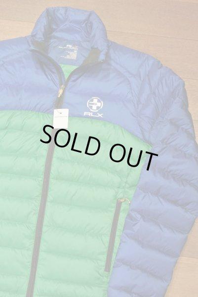 画像1: 【 40%OFF!! 】 RLX ラルフローレン バイカラー ライトダウンジャケット 【Blue*Green/S】 新品 並行輸入 (1)