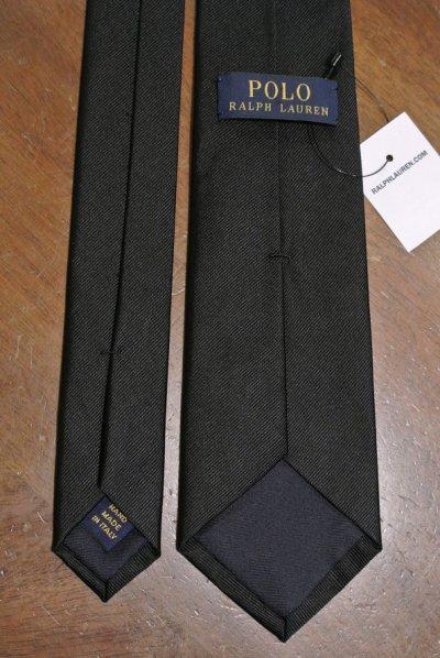 画像3: 【クリックポスト170円も可】 ポロラルフローレン シルク100% ブラック ネクタイ イタリア製 【Black】 新品 並行輸入