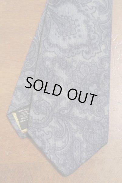 画像1: 【クリックポスト170円も可】 AllenEdmonds コットン ペイズリープリント ネクタイ 【Blue】 アメリカ製 新品 (1)