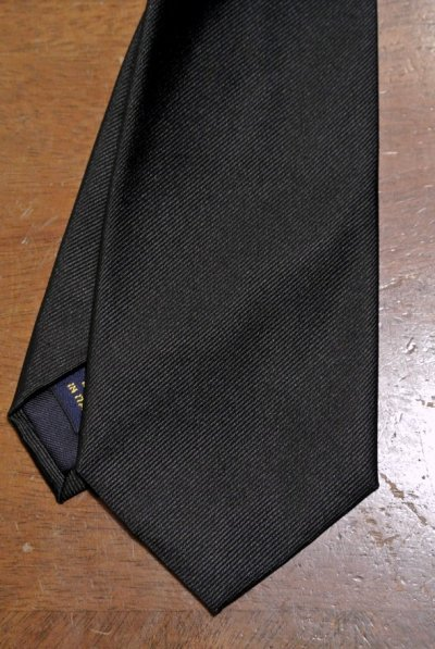 画像1: 【クリックポスト170円も可】 ポロラルフローレン シルク100% ブラック ネクタイ イタリア製 【Black】 新品 並行輸入