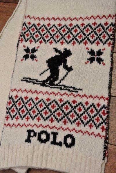 画像2: 【20%OFF!! 】ポロラルフローレン スキーヤー+雪柄   マフラー 新品 並行輸入
