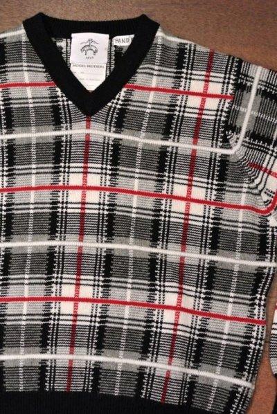 画像1: 【EXCELLENT USED】 ブルックスブラザーズ ブラックフリース カシミヤ100%  チェックセーター【BB1】