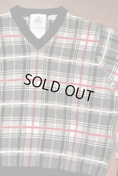 画像1: 【EXCELLENT USED】 ブルックスブラザーズ ブラックフリース カシミヤ100%  チェックセーター【BB1】  (1)