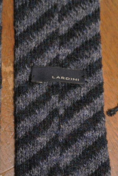 画像3: 【クリックポスト170円も可】  LARDINI ラルディーニ ウール ニットタイ ネクタイ (Blue) イタリア製