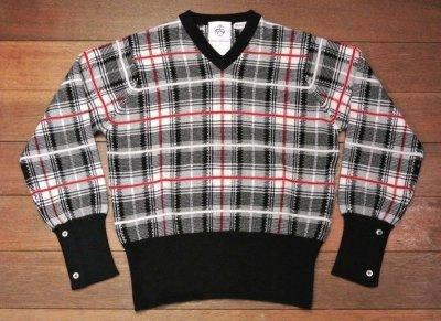 画像2: 【EXCELLENT USED】 ブルックスブラザーズ ブラックフリース カシミヤ100%  チェックセーター【BB1】