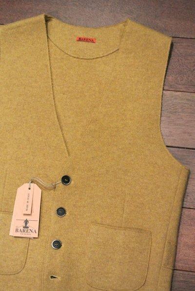 画像2: BARENA VENEZIA ウール+ナイロン ニットベスト ジレ イタリア製 (Ocra/46) 新品 正規輸入品
