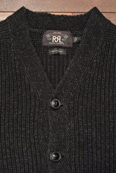 画像3: 【Excellent Used】 RRL RALPHLAUREN  ブラックインディゴ コットン カーディガン(Black Indigo / S)ダブルアールエル