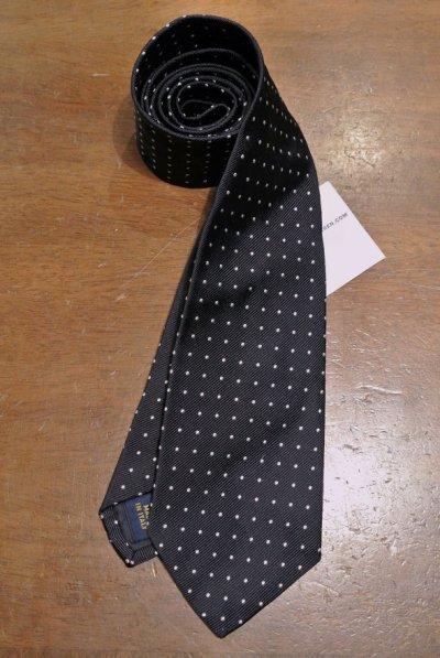 画像2: 【クリックポスト170円も可】 ポロラルフローレン シルク100% ドット ネクタイ イタリア製 【Navy】 新品 並行輸入