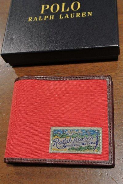 画像2: ポロラルフローレン ナイロン×レザー ウォレット 財布 札入れ 【RED / CAMO】 新品 並行輸入 $98