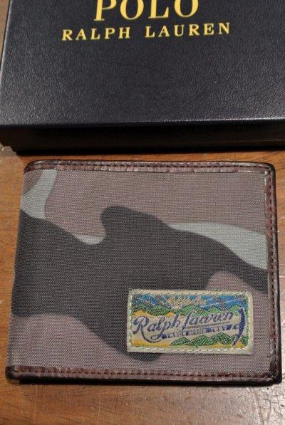 画像3: ポロラルフローレン ナイロン×レザー ウォレット 財布 札入れ 【RED / CAMO】 新品 並行輸入 $98