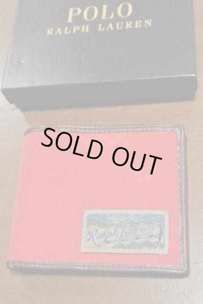 画像1: ポロラルフローレン ナイロン×レザー ウォレット 財布 札入れ 【RED / CAMO】 新品 並行輸入 $98 (1)