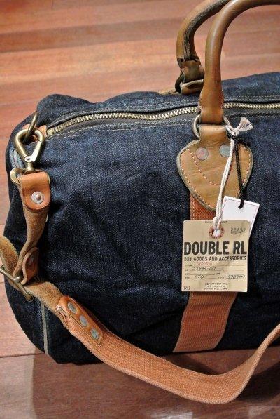 画像1: RRL ダブルアールエル Winston デニム+レザー ダッフルバッグバッグ 新品 定価50760