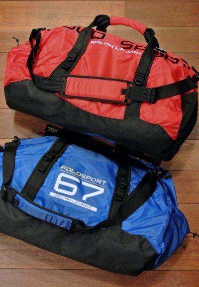 画像1: 【SALE!!】ポロスポーツ ラルフローレン POLO SPORT パッカブル ダッフルバッグ  ( BLUE ) 新品 並行輸入