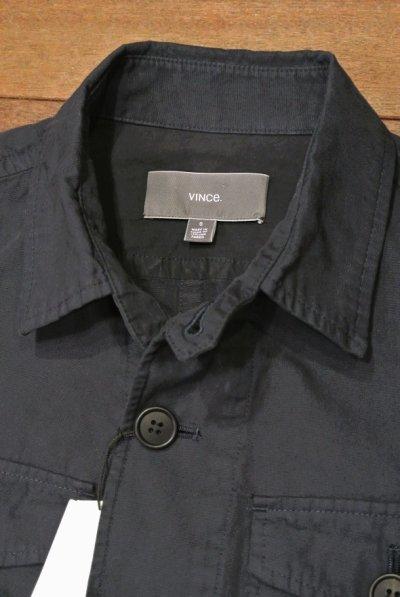 画像2: VINCE (ヴィンス) ウォッシュドコットンツイル シャツジャケット 【 Navy / S 】 新品 並行輸入