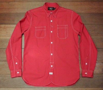 画像2: 【EXCELLENT USED】 RRL ダブルアールエル ドット ワークシャツ ( Red / S )