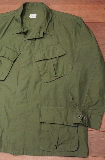 画像1: 1969年デッドストック U.S ARMY リップストップ ジャングルファティーグジャケット 【LARGE/SHORT】