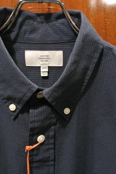 画像3: 【クリックポスト170円も可】 JACK SPADE(ジャックスペード) HARNETT SOLID SEERSUCKER B.D シャツ  (Navy/M) $148 新品 並行輸入