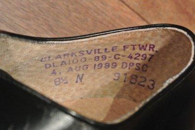 画像3: 箱入りデッドストック 1989年製 U.S NAVYサービスシューズ 【8 1/2-N】 CLARKSVILLE FTWR. 製
