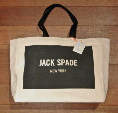 画像2: JACK SPADE (ジャックスペード) LOGO TOTE キャンバストートバッグ ( NATURAL ) $98 新品 並行輸入