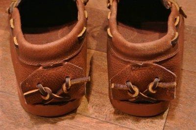 画像3: ポロラルフローレン オイルドレザー キャンプモック モカシン Hand made in Maine,USA ( Brown / 8-D ) 新品 並行輸入