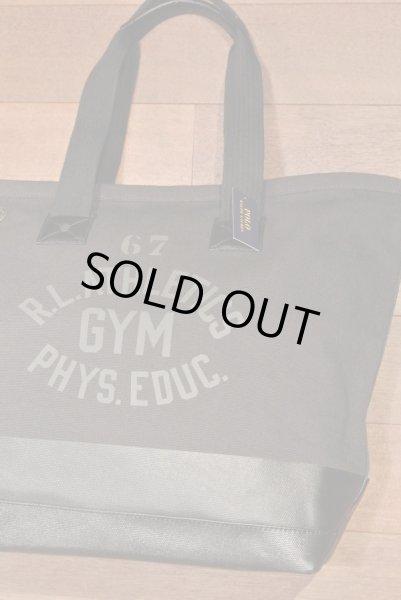 画像1: ポロラルフローレン コットンキャンバス+ラバー トートバッグ ( Black ) $198 新品 並行輸入 (1)