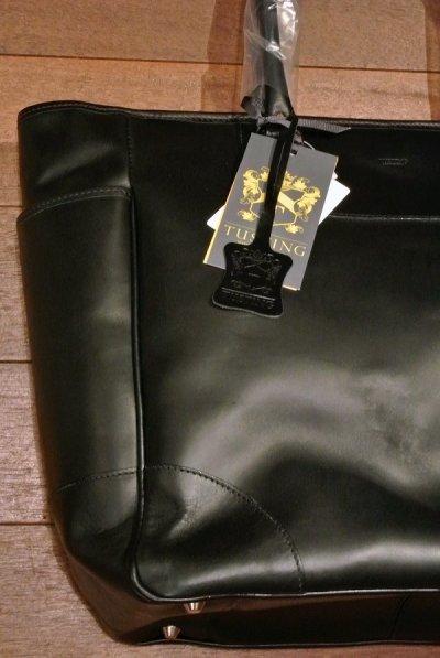 画像2: TUSTING オールレザー トートバッグ Made in England  【 BLACK 】 新品 定価¥62640