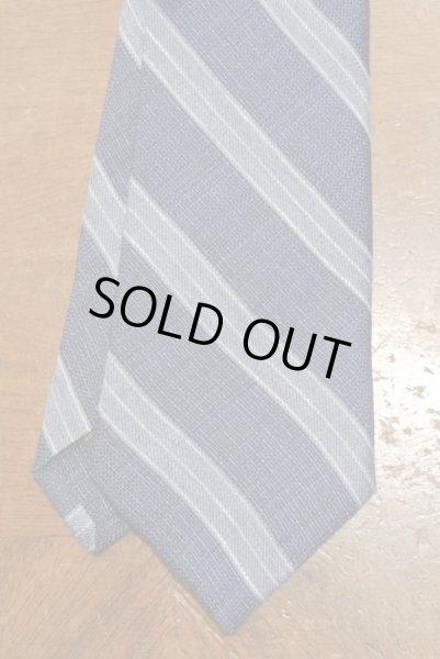 画像1: 【クリックポスト170円も可】 IKE BEHAR アイクベーハー リネン+シルク ストライプネクタイ (Blue) 新品 並行輸入 (1)